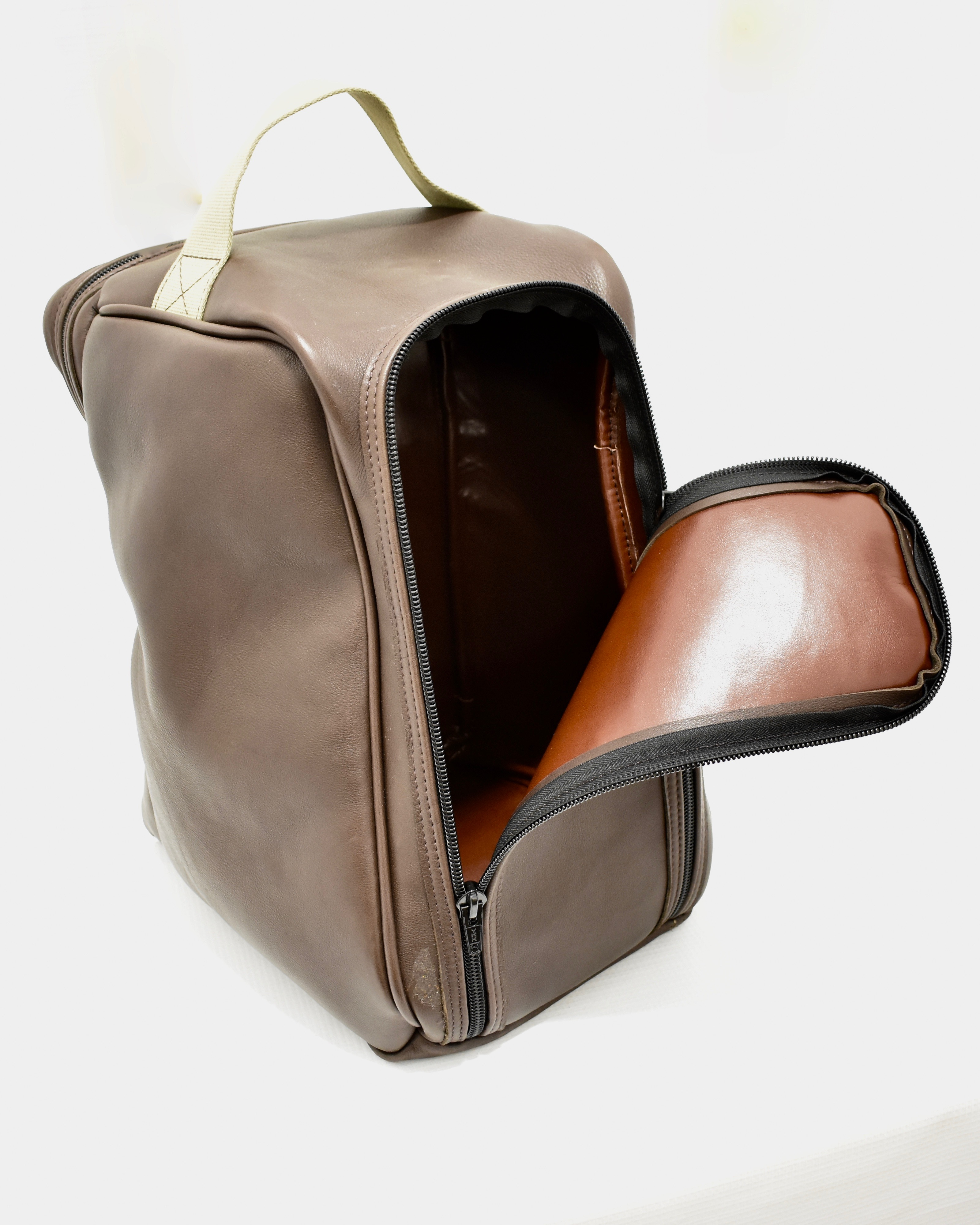 d3ad399f77ba7 Handmade Leather Boot Bag – Brown – Giles Marriott